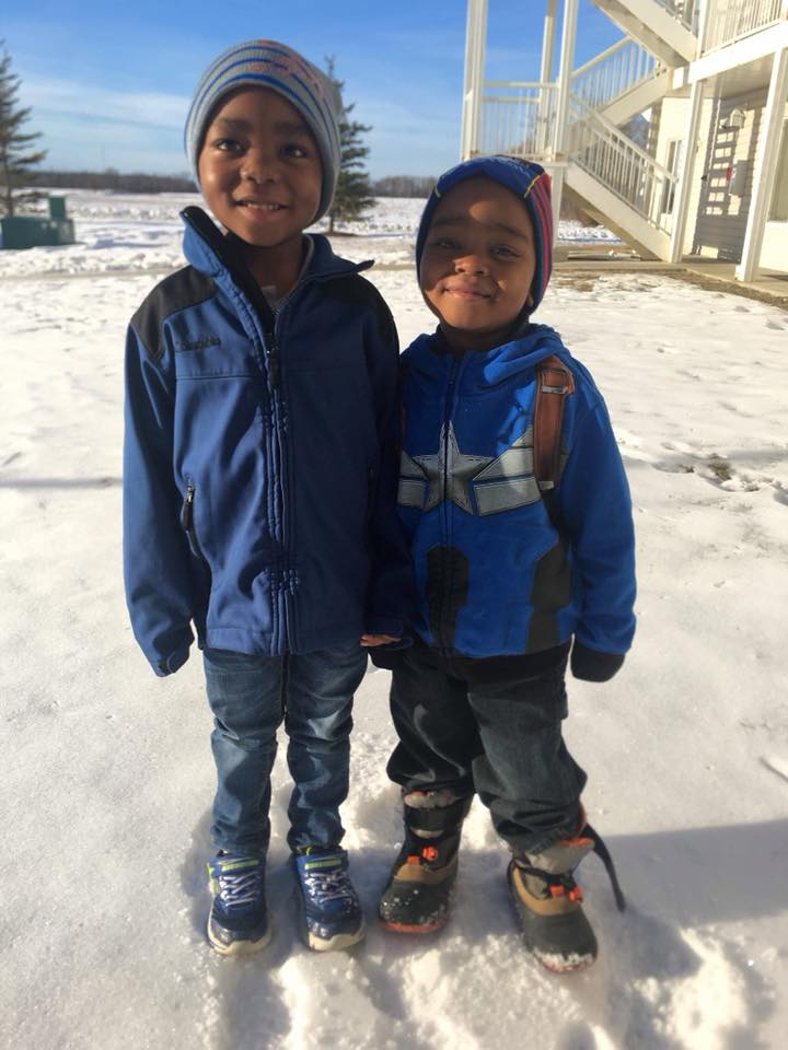 boys and snow